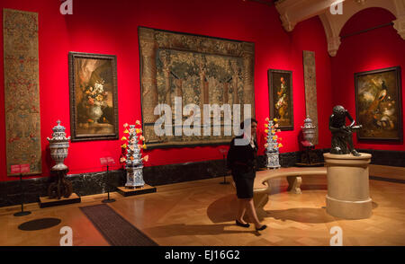 London, UK. 19 March 2015. The exhibition 'Painting Paradise: The Art of the Garden' opens at The Queen's Gallery, - Stock Photo