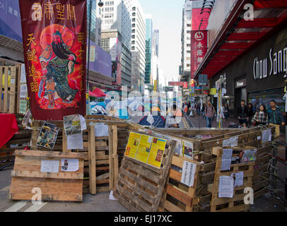 Pro-Democracy movement in Hong Kong - Stock Photo