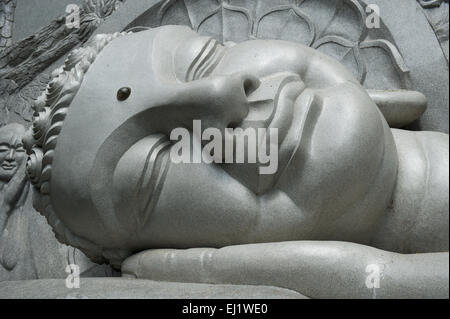 Reclining Buddha, Long Son Pagoda, Nha Trang, Khanh Hoa Province, Vietnam - Stock Photo
