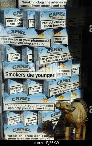 pack of cartons of cigarettes, brand Camel - Stock Photo