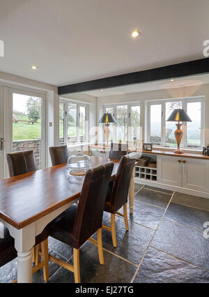 Dining Area Of An Extended Kitchen In A Home The UK
