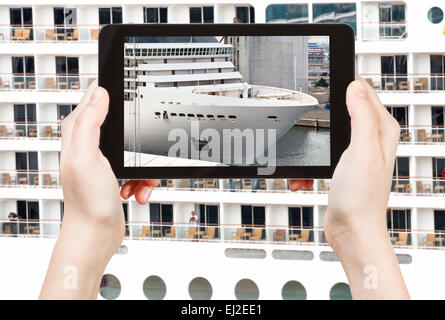 Big Screen on Cruise Ship Deck Stock Photo: 233046360 - Alamy