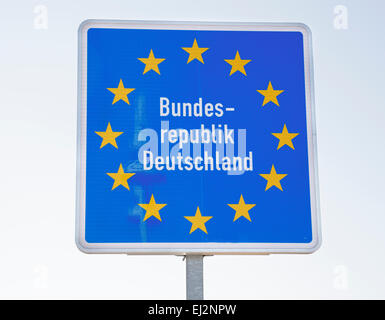 Bundes Republik Deutschland sign, Frankfurt Oder, Germany - Stock Photo