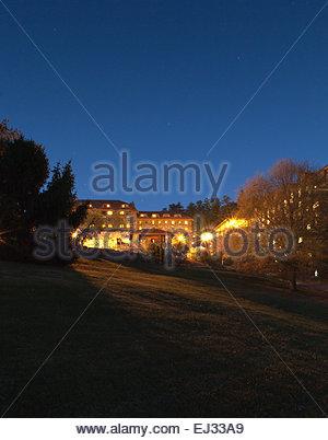Exterior of the Grove Park Inn. - Stock Photo