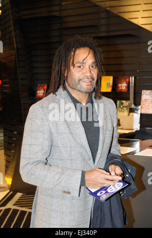 Athens, GREECE. 20th Mar, 2015. French international footballer Christian Karembeu attends at the Francophone Festival - Stock Photo