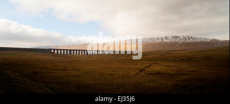 Ribblehead Viaduct, part of the Settle to Carlisle line; the North Yorkshire Dales near Ingleton; North Yorkshire, - Stock Photo