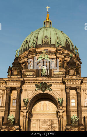 dome of the Berliner Dom in Berlin Germany - Stock Photo