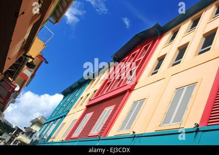 Abstract architecture in Fort de France, Martinique - Stock Photo