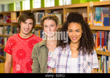 college students in the library - Stock Photo