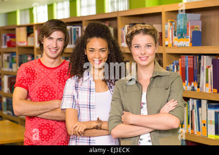 College students in library - Stock Photo