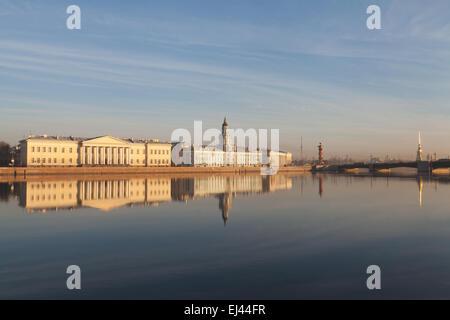 Saint Petersburg Scientific Center of the Russian Academy of Sciences and Kunstkamera, St. Petersburg, Russia. - Stock Photo
