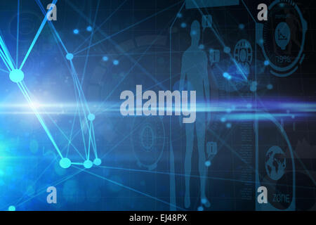 Composite image of fitness interface - Stock Photo