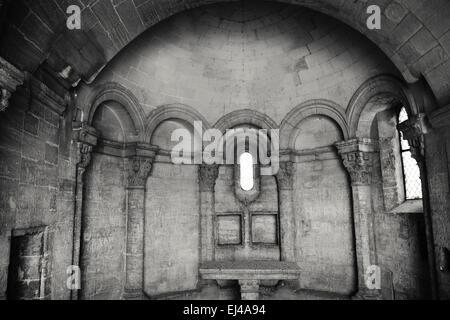 Inside the Chapel of St Nicholas on Pont Saint-Bénézet, Avignon - Stock Photo