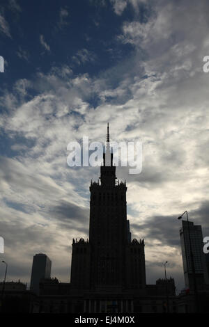 Palace of Culture and Science in Warsaw, Poland. - Stock Photo