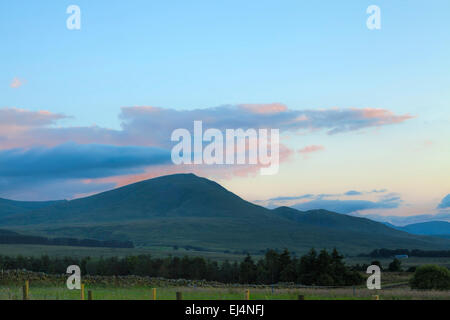Evening view on Blencathra, in the beautiful Lake District, at Troutbeck, Cumbria,  England, Great Britain, United - Stock Photo