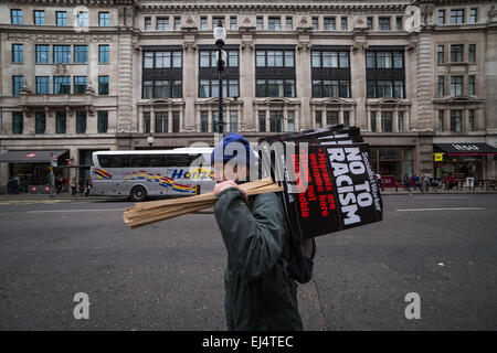 London, UK. 21st March, 2015. UN International Anti-Racism Day Credit:  Guy Corbishley/Alamy Live News - Stock Photo
