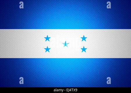 Honduras flag or banner on abstract texture - Stock Photo