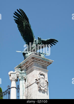 The Habsburg Gate in the Castle of Buda - Stock Photo