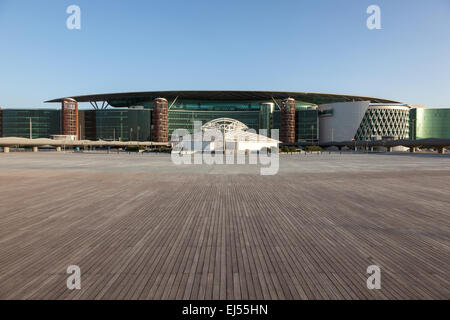 Meydan Race Club  (former Nad Al Sheba Racecourse) in Dubai. - Stock Photo