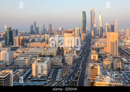 Downtown of Kuwait City, Middle East - Stock Photo