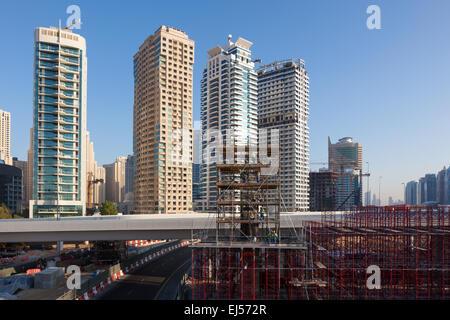 Construction Site in Dubai - Stock Photo