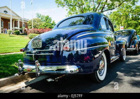 1947 Ford Super Delux Coupe, Antique Car Show, Armstrong Street, Old Town Fairfax, Virginia - Stock Photo