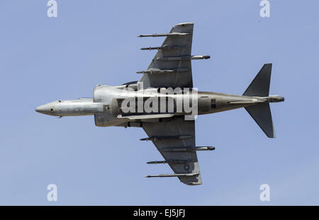 Los Angeles, California, USA. 21st Mar, 2015. An U.S. Marine Corps AV-8B Harrier II performs during Los Angeles County Air Show in Lancaster, California on March 21, 2015. Credit:  Ringo Chiu/ZUMA Wire/Alamy Live News Stock Photo