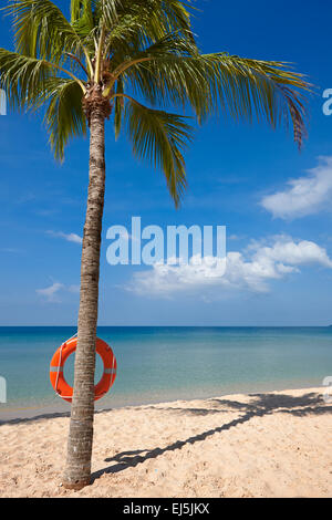 Beach at Vinpearl Resort, Phu Quoc island, Vietnam. - Stock Photo