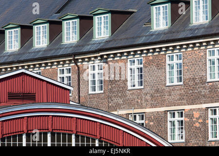 Traditional architecture in Copehnagen, Denmark - Stock Photo