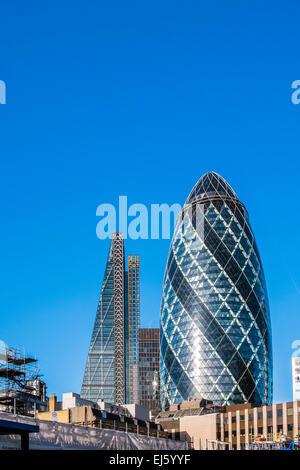 Leadenhall Building & 30 St.Mary Axe - City of London - Stock Photo