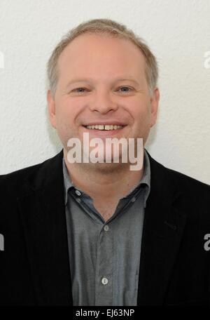 Cologne, Germany. 22nd Mar, 2015. German-Icelandic author Kristof Magnusson in Cologne, Germany, 22 March 2015. - Stock Photo