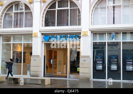 branch of Barclays bank in st anns square, Manchester England - Stock Photo