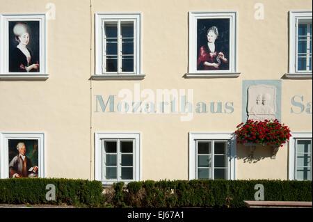 Mozarthaus in St. Gilgen am Wolfgangsee - Stock Photo