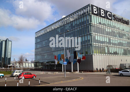 bbc pacific quay river clyde Glasgow Scotland uk - Stock Photo