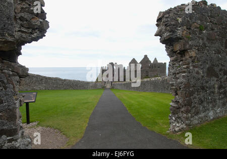 Dunluce Castle, County Antrim, Northern Ireland - Stock Photo