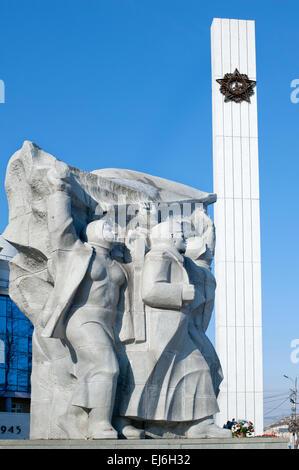 Victory square in Ryazan, Russia .Second World War 1939-1945, war memorial - Stock Photo
