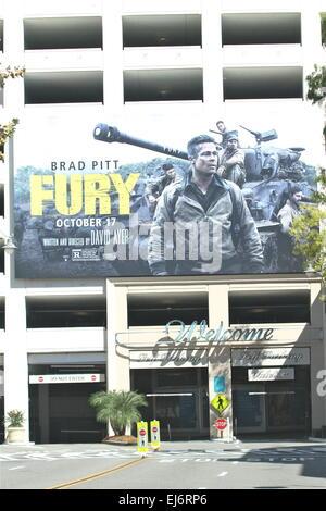 brad pitt poster fury 2014 stock photo 124406116 alamy