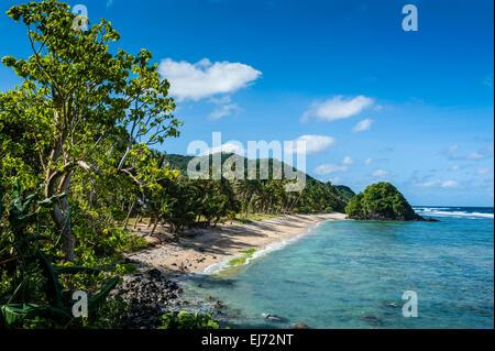 Two Dollar Beach on Tutuila island, American Samoa, South Pacific - Stock Photo