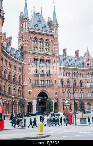 The St. Pancras Hotel - Stock Photo