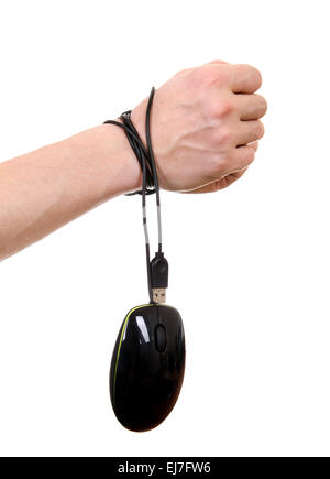 Hands tied Cable - Stock Photo