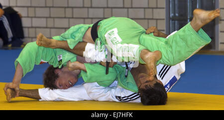 Two judoka's in the fight Witten, Germany - Stock Photo