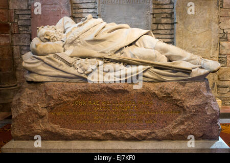The memorial to John Rae in St Magnus Cathedral, Kirkwall, Orkney. SEE DETAILS IN DESCRIPTION. - Stock Photo