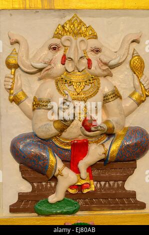 beautiful Hindu god Ganesh on the wall - Stock Photo