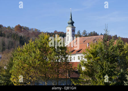 Schaeftlarn Abbey, Bavaria, Germany - Stock Photo