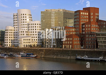 Gehry buildings, Duesseldorf, Germany - Stock Photo