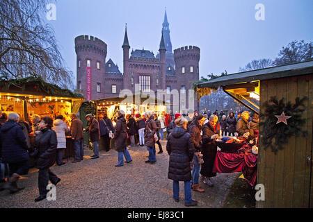 Christmas Market, Bedburg-Hau, Germany Stock Photo