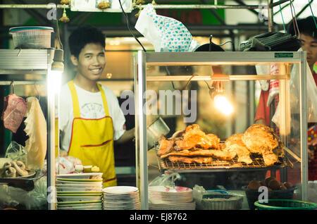 street stall in thailand bangkok - Stock Photo