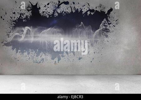 Splash On Wall Revealing Energy Wave Stock Photo 80090914