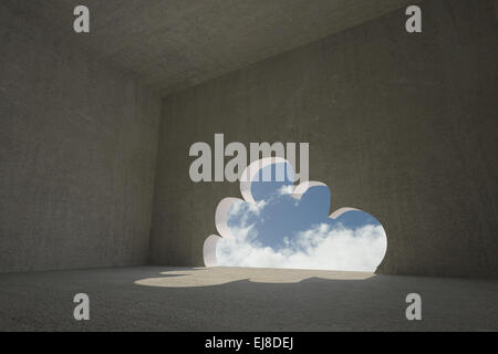 ... Cloud door in dark room - Stock Photo & A door opening in dark clouds with sun rays coming out from behind ...