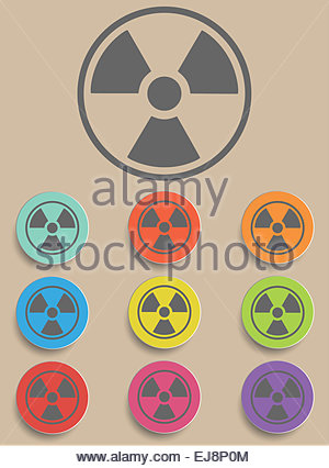 Radiation sign - Illustration - Stock Photo